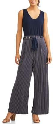 Wrapper Women's Striped Pant Jumpsuit
