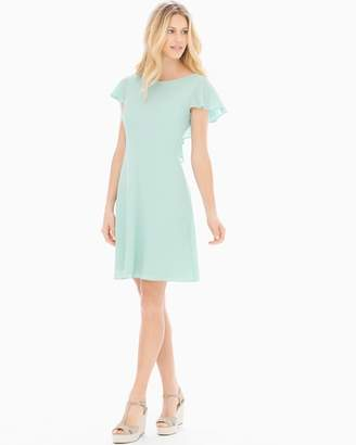 Maggy London London Times Flutter Short Sleeve Fit and Flare Dress