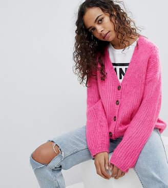 Asos Knitted Cardigan In Brushed Yarn