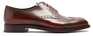Prada - Lace Up Leather Brogues - Mens - Brown