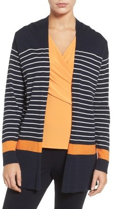 Women's Chaus Stripe Cardigan $89 thestylecure.com