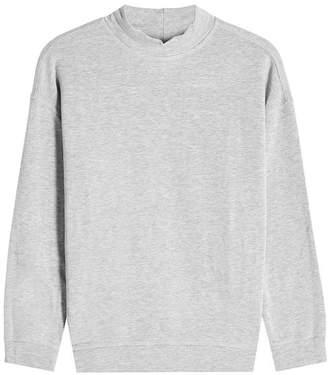 Velvet Sweatshirt with Cotton