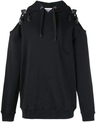 Moschino cold shoulder hoodie