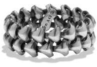 David Yurman Davidyurman Armory Band Ring In Sterling Silver, 9Mm