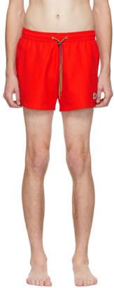 Paul Smith Red Zebra Logo Swim Shorts