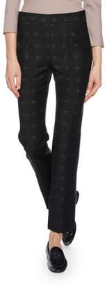 Giorgio Armani Straight-Leg Patterned Stretch-Wool Novelty Pants