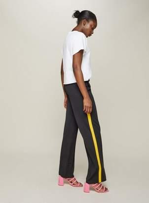 Miss Selfridge Yellow side stripe wide leg trousers