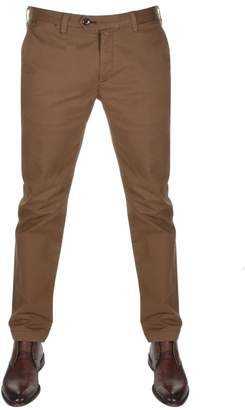 Ted Baker Procor Slim Fit Chino Trousers Brown