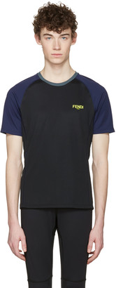 Fendi Black Activewear Logo T-Shirt $220 thestylecure.com