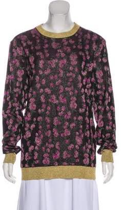 Gucci Metallic Floral Sweater Black Metallic Floral Sweater