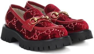 Gucci Horsebit GG velvet loafers