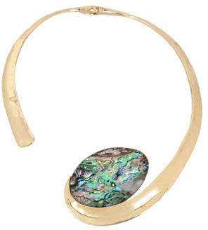 Robert Lee Morris SOHO Midnight Hour Crystal Swirl Necklace