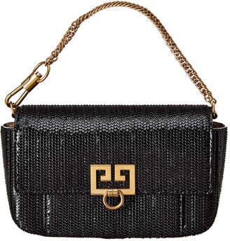 Givenchy Pocket Bag Snake Effect Leather Shoulder Bag