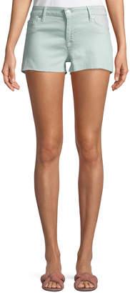 Hudson Amber Cut-Off Denim Shorts, Green