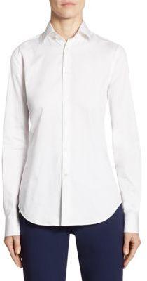 Ralph Lauren Collection Iconic Charmain Stretch Sateen Shirt