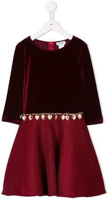 David Charles Kids velvet shell belt dress
