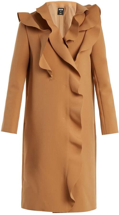 MSGM Ruffled crepe coat
