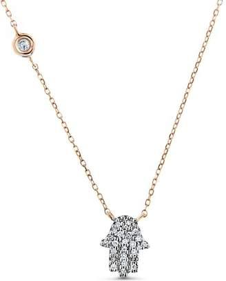 Cosanuova 14K Gold Hamsa Necklace