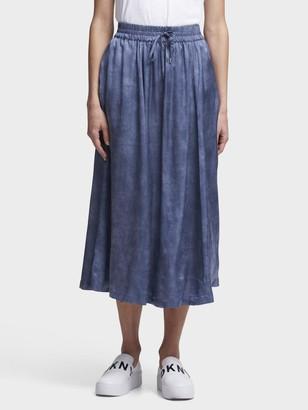 DKNY Pull-On Skirt With Waist Tie