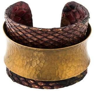 Kara Ross Snakeskin Cuff