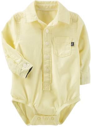 Osh Kosh Oshkosh Bgosh Baby Boy Button Down Bodysuit