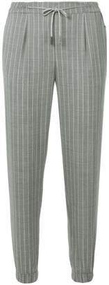 Eleventy striped elasticated waist trousers