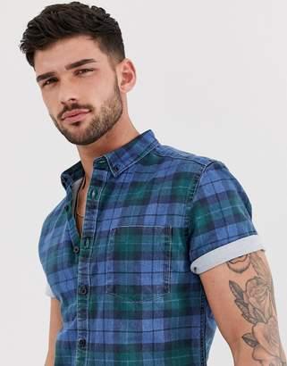 Asos DESIGN skinny denim check shirt