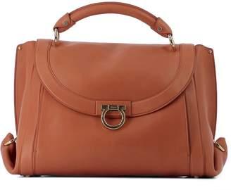 Salvatore Ferragamo Orange Leather Handle Bag