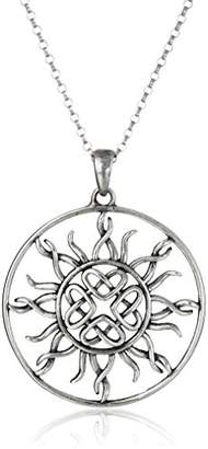 Celtic 14k Gold Plated Sterling Silver Love Knot Sun Pendant