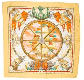Hermes Vive le Vent Silk Scarf