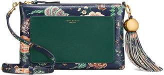 Tory Burch FLORAL TASSEL CROSS-BODY