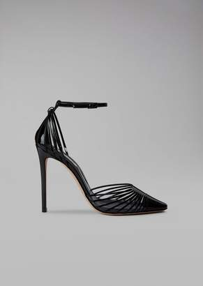 Giorgio Armani Pumps Flats With Plisse Design