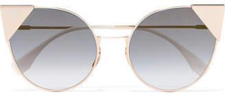 Fendi Cat-eye Gold-tone Sunglasses