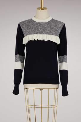 MAISON KITSUNÉ Wool sweater with ruffles