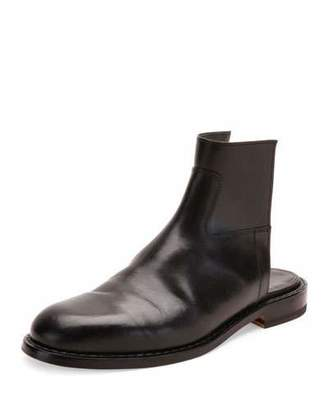 Maison Margiela Leather Cutout Boot Sandal, Black $990 thestylecure.com