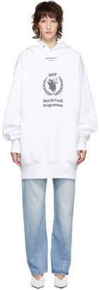 Balenciaga White World Food Programme Hoodie
