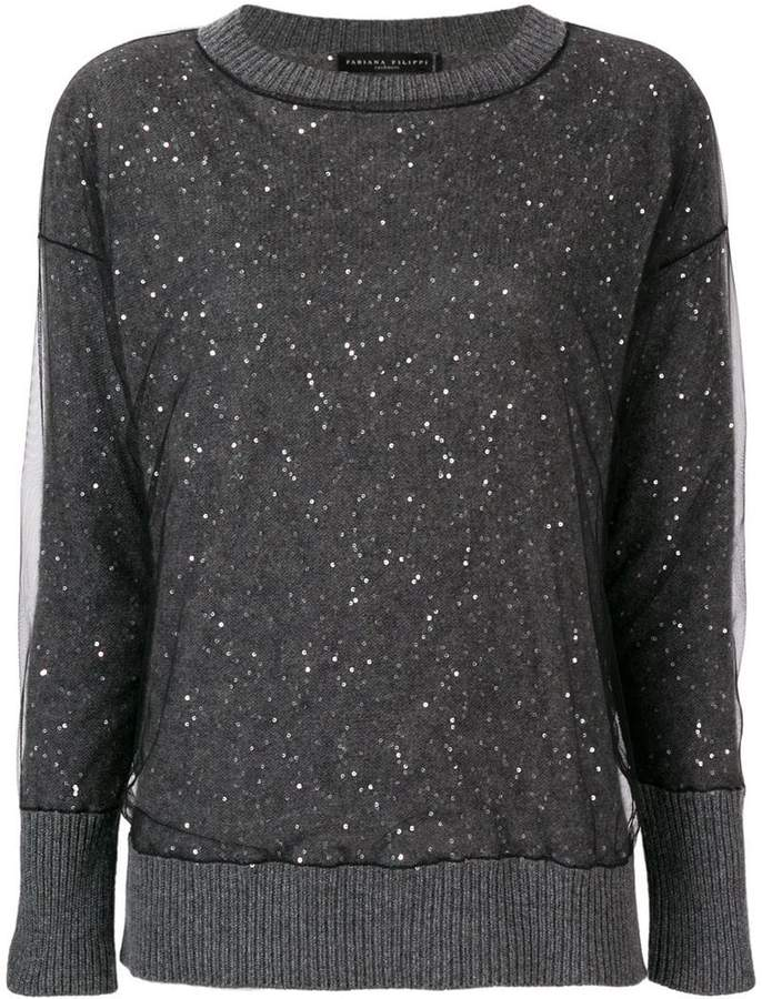 embellished fitted sweater