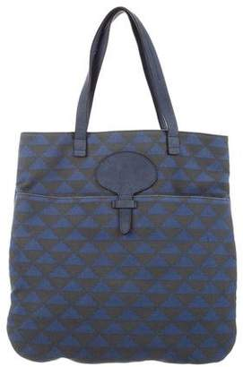 Tila March Leather-Trimmed Canvas Tote