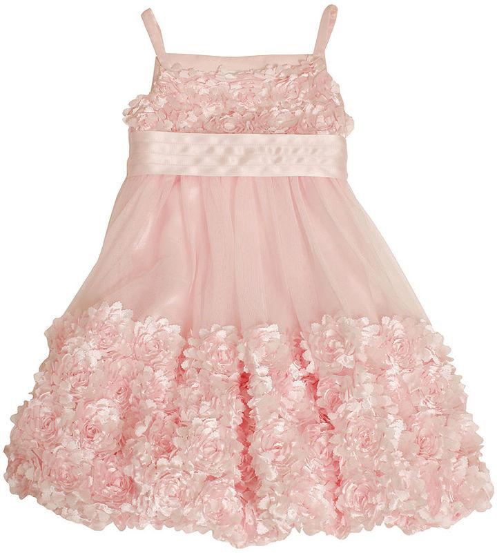 Bonnie Jean Kids Dress, Little Girls Rosette Bubble Dress