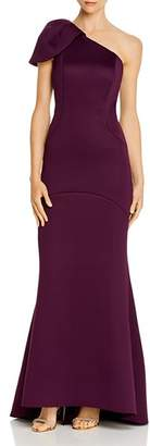 Eliza J Puffed One-Shoulder Gown
