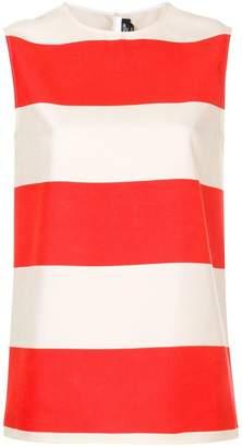 Calvin Klein striped sleeveless blouse