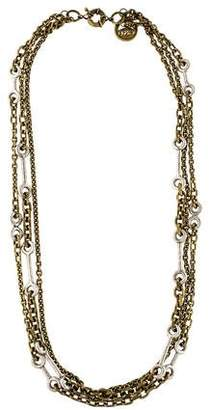 Giles & Brother Multi Chain Archer Necklace
