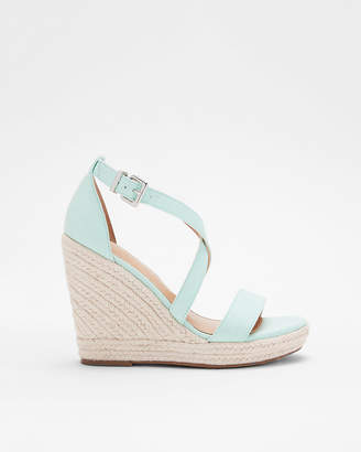 Express Crisscross Espadrille Wedge Sandals