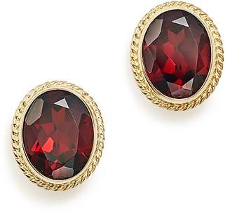 Bloomingdale's Garnet Oval Large Bezel Stud Earrings in 14K Yellow Gold - 100% Exclusive