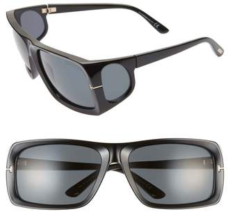 Tom Ford Rizzo 61mm Wrap Sunglasses