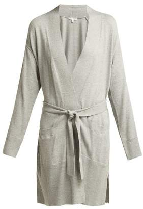 Skin - Karolina Cotton Blend Robe - Womens - Grey