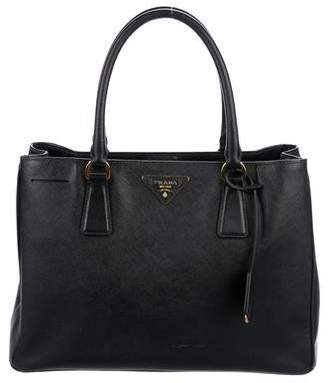 Prada Medium Saffiano Lux Galleria Double Zip Tote