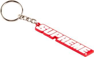 Supreme Bevel Logo Keychain - 'SS 18' - Red/White