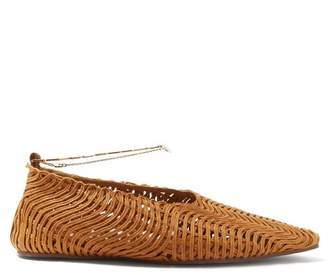 Stella McCartney Ankle Bracelet Point Toe Flats - Womens - Tan