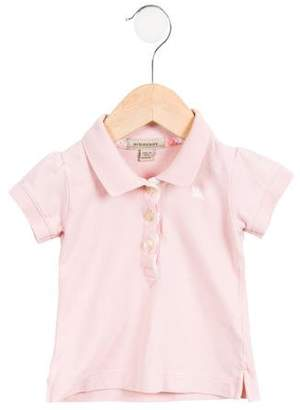 Burberry Girls' Embroidered Button-Up Polo